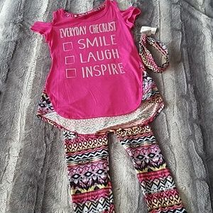 Girls outfit with headband size 10